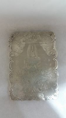 EARLY AMERICAN STERLING SILVER CARD CASE