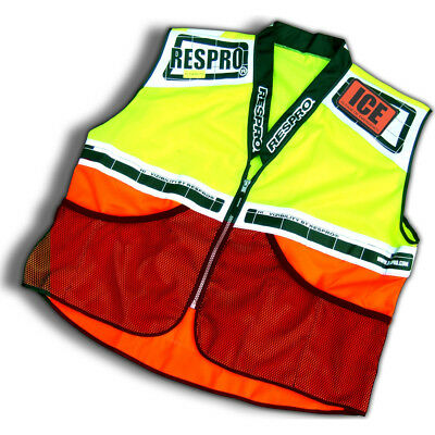 Respro Hi-Viz Reflective Super Bib Vest Waistcoat Bike Cycle Orange/Yellow Large