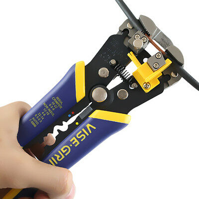 IRWIN Vise-Grip 2078300 Self Adjusting 8-inch Wire Stripper Cutter 10-24 AWG NEW