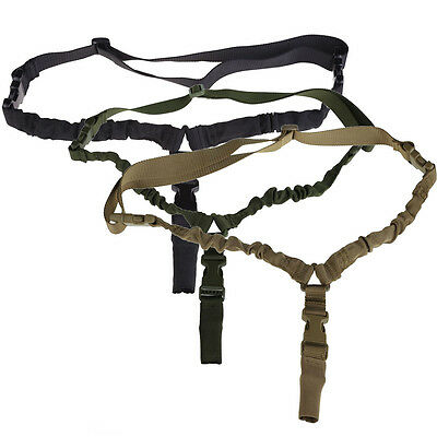 Single Point Tactical Military Bungee Army Sling With Quick Release Buckle New