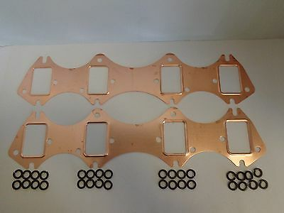 "Ford FE Copper Header Gaskets 332 352 360 390 406 427 428 .043"" Thick Exhaust"