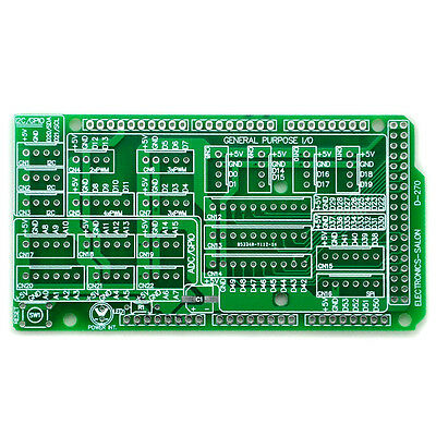 1x I/O Extension PCB for Arduino MEGA 2560 R3 Board DIY.