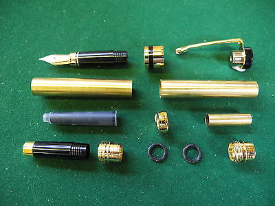 Woodturning CLASSIC Fountain Pen Kit in Gold