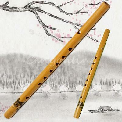 37cm Traditional 6 Hole Bamboo Flute Clarinet Musical Instrument Wood Color