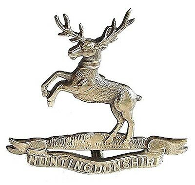 WW1 THE HUNTINGDONSHIRE CYCLIST BATTALION BADGE SILVER