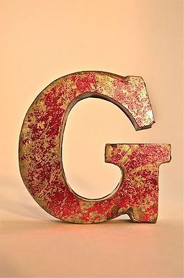 Fantastic Retro Vintage Style Red 3D Metal Shop Sign Letter G Advertising Font