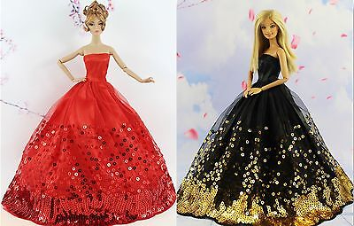 2* Collection Royalty Princess Black and Red Dress/Clothes For 11.5in.Doll S23F