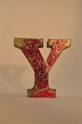 Fantastic Retro Vintage Style Red 3D Metal Shop Sign Letter Y Advertising Font