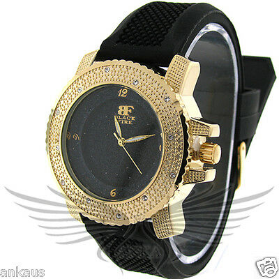 Ladies Iced Out Crystal Accented Stylish Hip Hop Wristwatch by Black Fire WL103