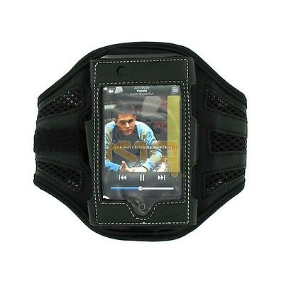 Black Premium High Quality Workout Mesh Armband for iPod Touch 1st Gen 1G 2G