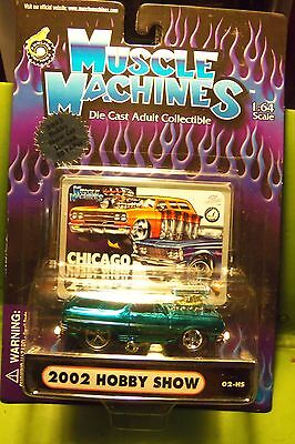 Muscle Machines 02 Metallic Electric Blue Chicago Toy Show 2016 LE Die Cast Car