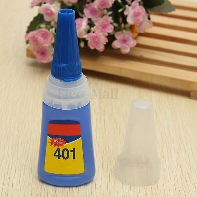 set 401 Instant Adhesive bouteille colle Glue Extra Fort rapide 20g multi-usage
