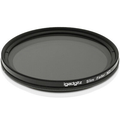 77mm Adjustable Neutral Density ND Slim Lens Filter ND2 to ND400 for Cameras