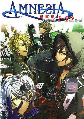 Amnesia DVD Complete 1-12 Anime Collection  NEW Ship FAST
