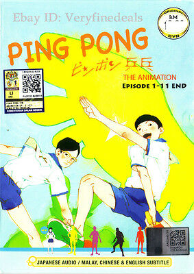 Ping Pong The Animation DVD Complete 1-11 (Anime)  NEW ShipFAST