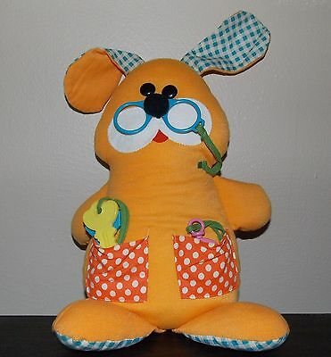 Rare Vintage Fisher Price Play Pup Puppy Dog Baby  Cloth Doll Plush  1976 EUC