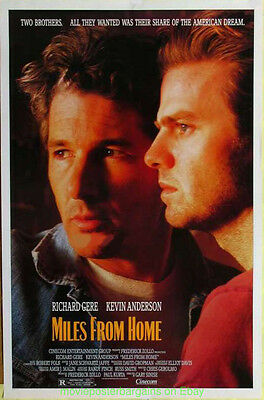 MILES FROM HOME MOVIE POSTER Original 27x41 Rare Rolled 1988 RICHARD GERE