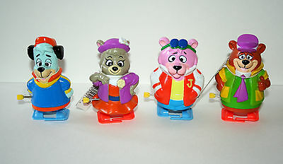 4 Huckleberry Yogi Wind-Up Walking Toy Figures New NOS 1992 Hanna-Barbera