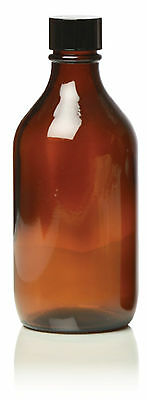 Hive Empty Amber Round Glass Bottle Jar Cap Mist Aromatherapy 500ml SAR0065