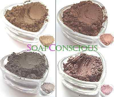 Brown Mica Collection Cosmetic Grade Make Your Own Make-up Soaps Skincare Crafts