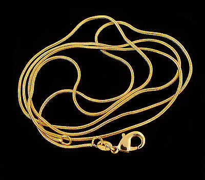 Hot Sale Fashion Wholeslae 1pc 18K Gold Filled snake Chain Necklace 1.2mm