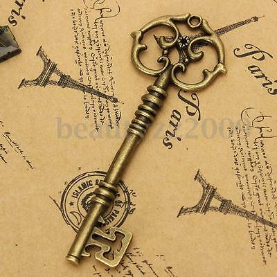 Vintage Bronze Color Chain Charm Lock Key Old Punk Style DIY Jewelry Making Gift