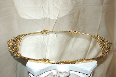 Antique Vintage Matson Ormolu Gold Vanity Tray - Mirrored - Excellent!