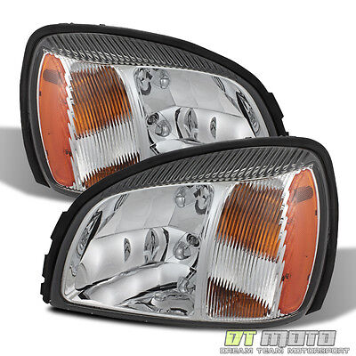 Fits 2000 2001 2002 2003 2004 2005 CADILLAC DEVILLE HEADLIGHTS HEADLAMPS LH+RH
