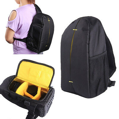 DSLR Digital Camera Backpack Case Sling Shoulder Carry Bag for Canon Nikon Sony