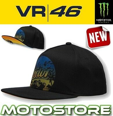 Vr46 Valentino Rossi Cap Official Hat Genuine The Doctor Lifestyle Flat Peak