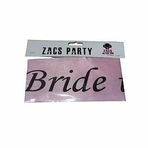 Hen Party: Sash Bride To Be In Black Front