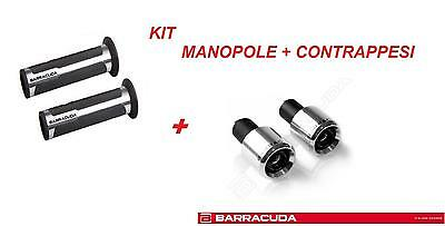 BARRACUDA KIT MANOPOLE RACING + CONTRAPPESI ARGENTO per HONDA INTEGRA 750