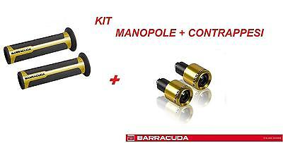 BARRACUDA KIT MANOPOLE RACING SUPERGRIP + CONTRAPPESI ORO per HONDA CB 1000 R