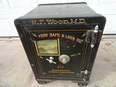 Antique 1890's York Safe and Lock Co Floor Safe THE BEST near mint