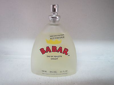 BABAR By SHAO KO EDT 3.3 FL OZ/100 ML PERFUME FOR CHILDREN  EXTREMELY RARE
