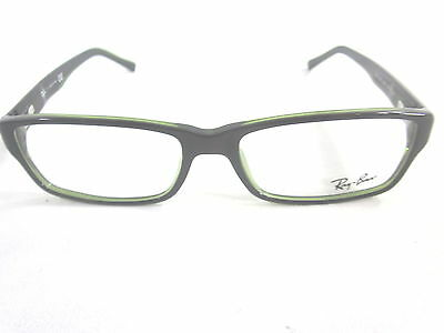 RAY-BAN RX5169-2383 RECTANGLE EYEGLASSES, BLACK GREEN, 54mm/14, RX-ABLE