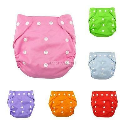 Newborn Baby Cotton Cloth Diaper Nappy Infant Adjustable Reusable Cloth Diaper
