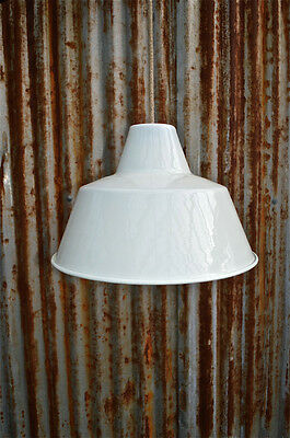 Retro Large Cream Industrial Style Factory Ceiling Light Shade Pendant Lc
