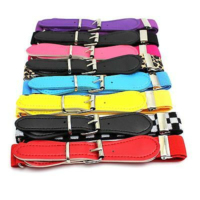 New Children Kid Toddler Candy Color Adjustable Buckle Band Belt Waistband Gift