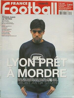 France Football n°3009 - 2003 - Juninho - Perrin - La Barça - Cissé - Henry -
