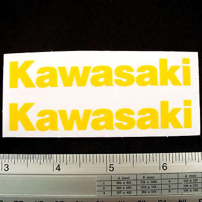 "Kawasaki Racing Car Non Reflective Light Sticker 1.5x3.75"" Yellow"
