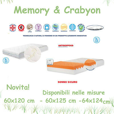 MATERASSO MEMORY CRABYON LETTINO CULLA WILLY & CO. ALTO 13 cm (60x125)