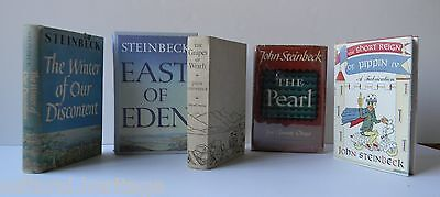 5 JOHN STEINBECK BOOKS~EAST OF EDEN~GRAPES OF WRATH~WINTER OF OUR DISCONTENT