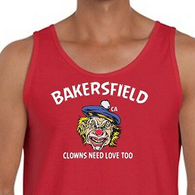Bakersfield Ca Clowns Need Love Too T-shirt Scary Circus Costume Men's Tank Top