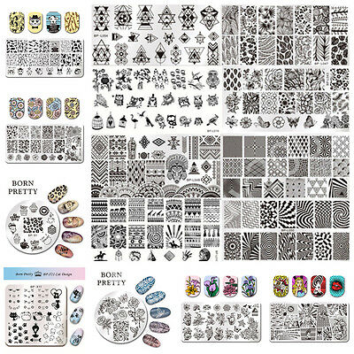 BORN PRETTY Nail Art Stamp Stamping Template Image Plate DIY Manicure L001-L056
