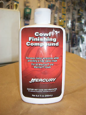 Mercury Boat Cowl / Outboard Cover / Lid Finishing Compound-Removes Scratches