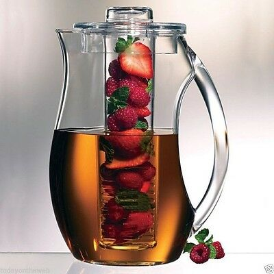 Prodyne Fruit Infusion 93 Ounce Natural Fruit Flavor Pitcher New