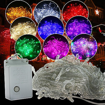 10M/20M 100/ 200LED Bulbs Christmas Outdoor Fairy Party String Lights Waterproof