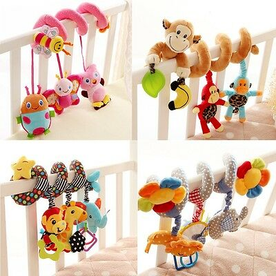 Cute Christmas Gift Toy Multifunctional Baby Kids Bed Stroller Around Doll Toys