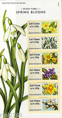 2014 FLORA/FLOWERS I #1 SPRING BLOOMS POST & GO SET Mint in Presentation Card